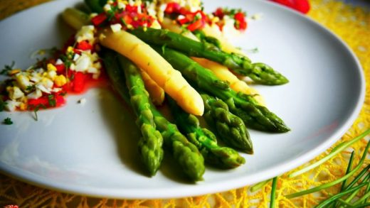 Herb vinaigrette asparagus salad; paleo recipe - PassionSpoon recipes