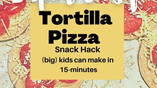 Tortilla Pizza Recipe [with video] - The Kitchen Girl