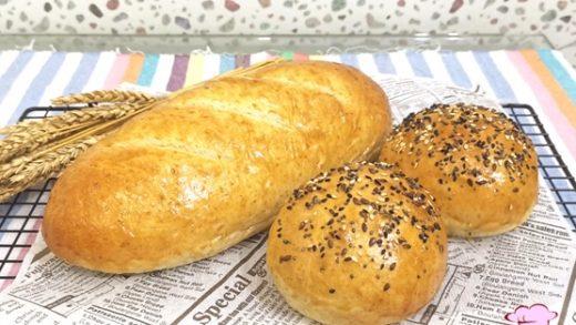 Wheat germ Loaf & Multigrain Buns   JusBaking Class