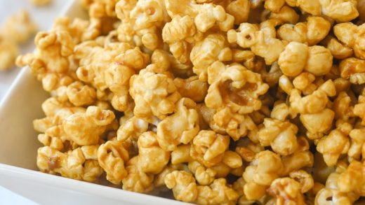 Microwave Caramel Popcorn - Recipe from Your Homebased Mom