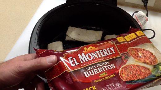 How do you fry frozen burritos?