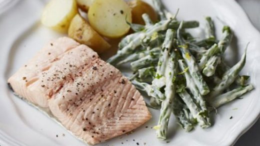 Basil Butter Salmon in Foil - No Spoon Necessary