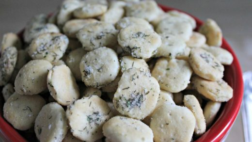Easy Parmesan Garlic Oyster Crackers - Pudge Factor