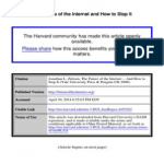Zittrain - Future of The Internet | PDF