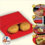 Microwave Oven Potato Baking Bag, Steam Pocketcooks 4 potatoes at once In 4  Minutes Washable Potato
