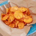 Microwave Sweet Potato Chips - Super Crunchy & Highly Addictive