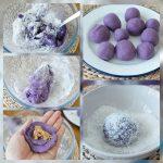 Molten Purple Yam Mochi