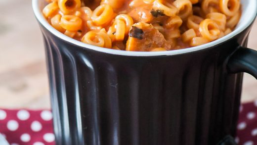 Homemade SpaghettiOs in a Mug - Gemma's Bigger Bolder Baking