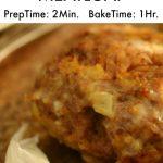 3 Ingredient MeatLoaf (2 Minute Prep, 1 Hour Bake)   TheProjectPile.com