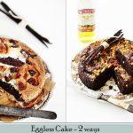 Baking / Eggless Cake} VANILLA & CHOCOLATE and CHOCOLATE & WALNUT EGGLESS  CAKE -