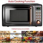 Retro Countertop Microwave Oven, 0.7Cu.ft, 700-Watt, Cold Rolled Steel  Plate, 5 Micro Power,