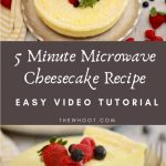 5 Minute Microwave Cheesecake Recipe - The WHOot