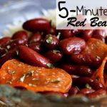 5-Minute Red Beans & Rice Recipe - Nerdy Mamma