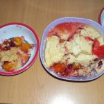 Plum Crumble microwave or oven, as you please   Big purple dragon