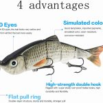 just for you Fishing Lures Fishing Baits 3Pcs Floating Lures Kits Multi  Jointed Swimbaits Slow Sinking Bionic Floating Lures Bait Sets Hight  Quality Fishing Hooks Tackle Artificial Fishing Enthusiast Gifts fast  delivery