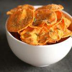 The Bitten Word: Microwave Sweet Potato Chips