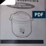 Cooks Essentials 99700 Pressure Cooker Manual   PDF   Pressure Cooking