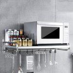 XKOEY Wall Mounted Kitchen Microwave Bathroom Metal St Oven Rack Direct  stock discount
