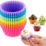 novelty items Reusable Silicone Baking Cups- BakeBaking Mini Muffin Pan-  Reusable Silicone Cupcake Molds -Small Baking Cups Truffle Cake Pan Set  Nonstick in 6 Colors, Pack of 12: Home & Kitchen online