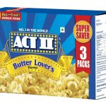 Act II Microwave Popcorn Butter Lovers, 297g (Pack of 3) : Amazon.in:  Grocery & Gourmet Foods