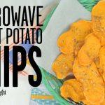 Homemade Sweet Potato Chips - Microwave! {VIDEO} - Rachel Cooks®