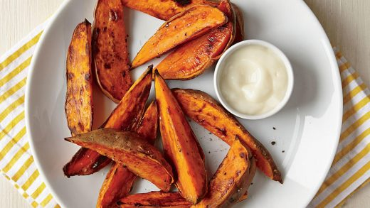 How to Make Roasted Sweet Potato Wedges with Yogurt Dipping Sauce | Cooking  Light