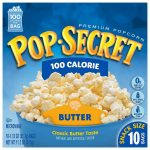 Pop Secret Microwavable Popcorn, Snack Size 100 Calorie Pop Butter, 10  Count Box (Pack of 3) : Amazon.co.uk: Grocery