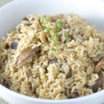 Mushroom Rice Pilaf - Feasting on Fruit