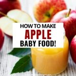 How to Make Apple Baby Food - Keep Calm And Mommy On
