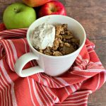 Apple Crisp in a Mug - Microwaved with Fresh Apples. Dessert for One.