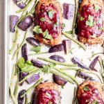 Mini BBQ Turkey Meatloaf Sheet Pan Dinner - Abra's Kitchen