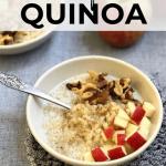Breakfast Quinoa Mom's Kitchen Handbook