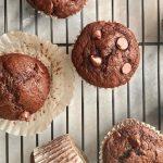 Double Chocolate Banana Muffins - The Nostalgic Crumb