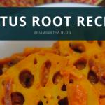 IamGeetha: Instant Pot series - Lotus root recipe - Thamarai Thandu poriyal