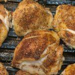 Easy crispy oven baked bone-in chicken thighs recipe