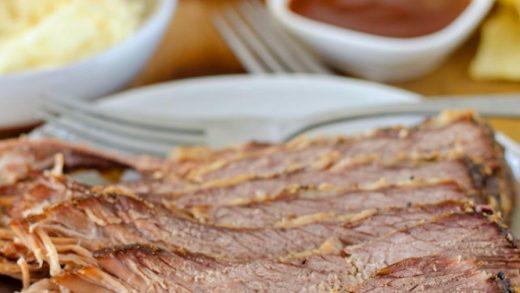 Slow Cooker Beef Brisket Recipe (3 Ingredient CrockPot recipe!)