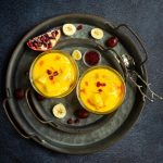Microwave Fruit Custard   Eggless Fruit Custard Recipe