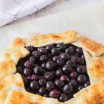 Microwave Baked Blueberry Cheesecake