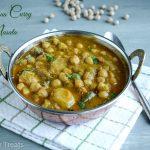 Spicy Treats: Chickpeas Curry Masala / Channa Curry Masala / Channa Masala  with Coconut