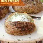 Easy Air Fryer Baked Potatoes - Bitz & Giggles