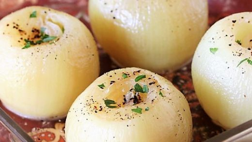 How to Make Baked Onions in the Microwave   The Kitchen is My Playground