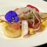 Tin Can Bay Scallops with jamon and finger lime - Eat drink and be Kerry