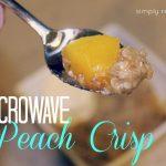 Microwave Peach Crisp