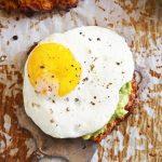 "Avocado ""Toast"" with a Sunny Side Up Egg"