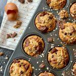 Banana Oat Chocolate Chunk Muffins - Un petit Oiseau dans la Cuisine