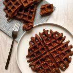 Brownie Waffles (without butter) - Un petit Oiseau dans la Cuisine