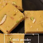 Besan and Milk powder Burfi – SASAS VEG RECIPES
