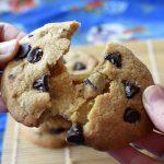 Crispy Chocolate Chip Cookies - two raspberries