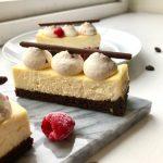 Baked honey cheesecake; Rose and ginger cheesecake