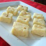 Microwave Ricotta Cheese Badam (Almond) Burfi